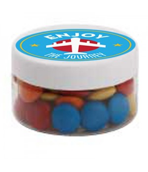 Small Plastic Jar with Mixed Chocolate Gems