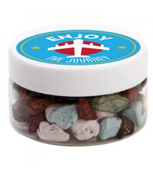 Small Plastic Jar with Chocolate Rocks