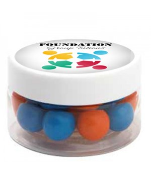 Small Plastic Jar with Chocolate Balls (Corporate Colour)