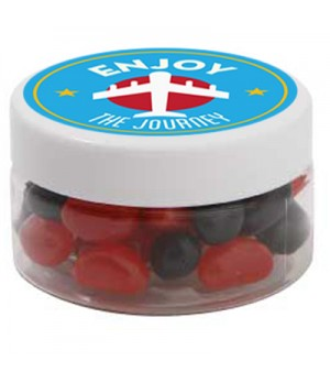 Small Plastic Jar with Mini Jelly Beans (Corporate Colour)