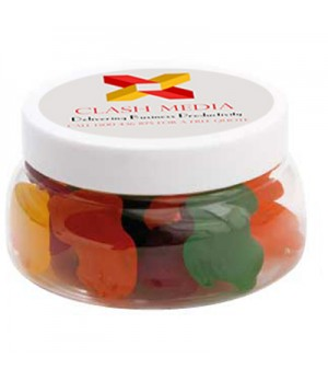 Large Plastic Jar with Fruity Frogs