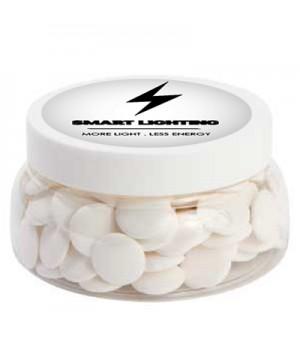 Large Plastic Jar with Flat Mints