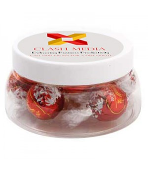 Large Plastic Jar with Lindor Balls