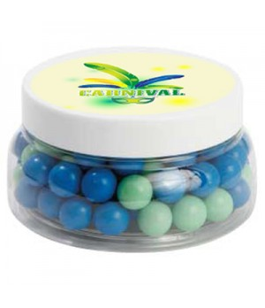 Large Plastic Jar with Chocolate Balls (Corporate Colour)