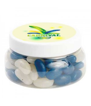 Large Plastic Jar with Mini Jelly Beans (Corporate Colour)