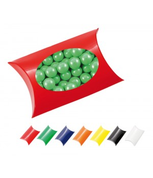 Window Pillow Box with Chocolate Balls (Corporate Colour)