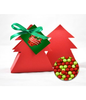 Xmas Tree with Chocolate Balls- Branded with Printed Swing Tag