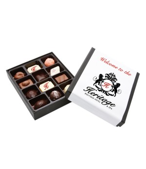 3 Premium Printed Belgian Chocolate truffles with 9 Assorted Belgian chocolates
