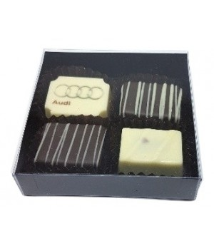 4PC -Chocolate Gift Box with Black base