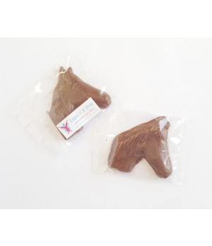 Chocolate Horse Face or Chocolate Horse Shoe with custom printed sticker or bulk