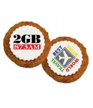 Printed Anzac Cookies with custom printed fondant