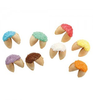 Choc Dipped Fortune Cookies_ with Sprinkles