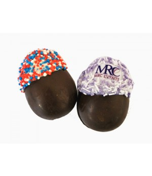 Hollow 3 D Chocolate Dipped Fortune Easter Egg with Sprinkles and with upto 5 custom message insert in cello bag