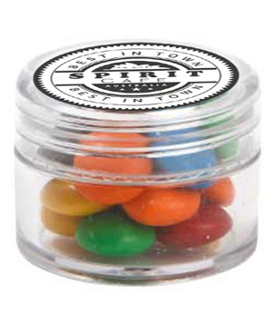 Mini Plastic Jar with M&Ms