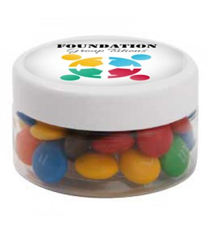 Small Plastic Jar with M&Ms