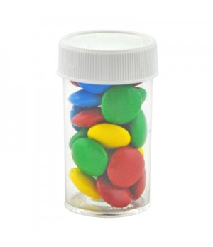 Small Pill bottle with Mixed Chocolate Gems
