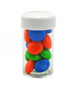 Small Pill bottle with M&M's