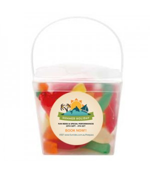 Clear Noodle box with Gummy Snakes