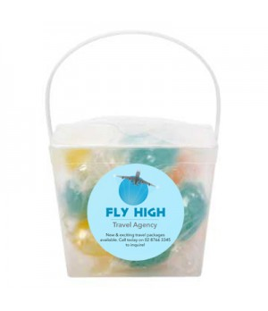 Clear Noodle box with Lollies (Acid Drops)