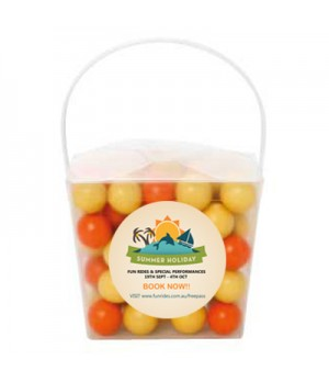 Clear Noodle Box with Chocolate Balls (Corporate Colour)