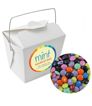 Paper Noodle Box with Chocolate Gems (Corporate Colour)