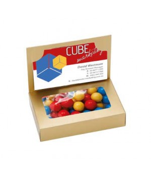 Business Card Box with Chocolate Balls (Corporate Colour)