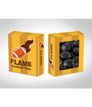 Custom printed lolly box- single colour Chocolate gems/smarties