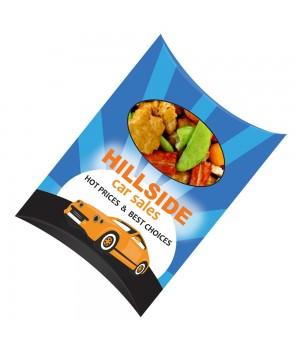 Custom Printed Window Pillow Box with Rice Crackers