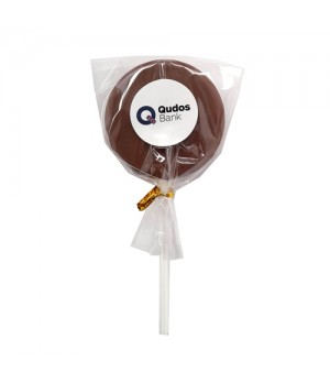 Branded Chocolate Lollipop