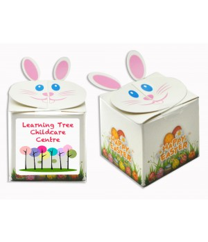 Printed Easter Bunny Box with coloured Chocolate ball
