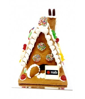 Branded Gingerbread House (Large) ( MELBOURNE DELIVERY ONLY)