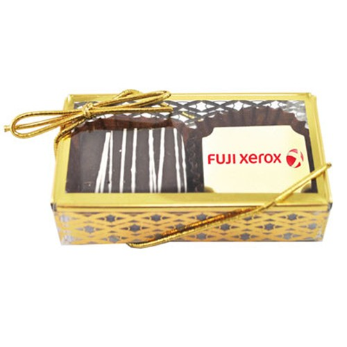 Belgian Chocolate 2pc Truffle Box - GOLD