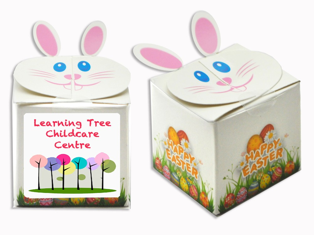Custom Printed Easter Bunny Box with 4 Mini Easter Eggs