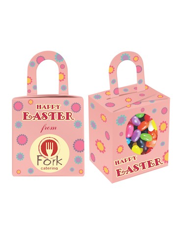 Custom Printed Easter Noodle Box filled with mini Jelly beans mix